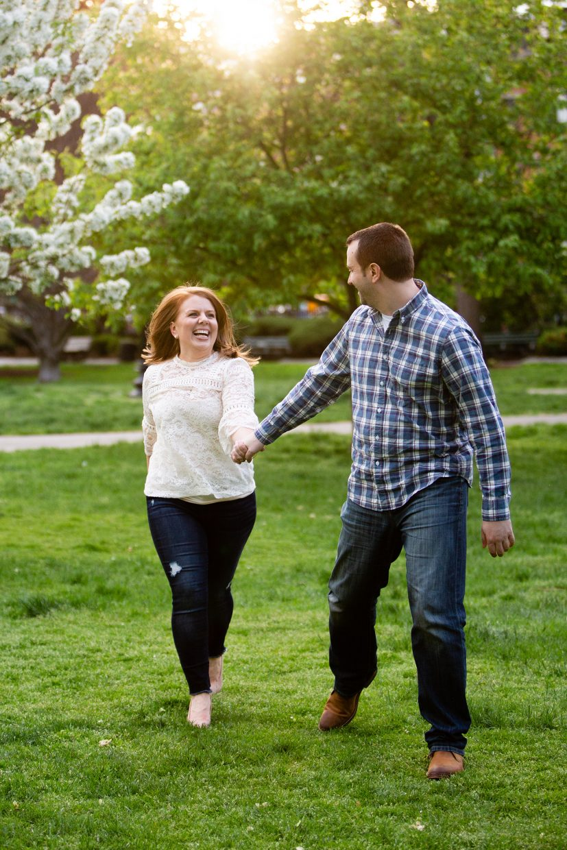 bride runs after fiance in boston public garden