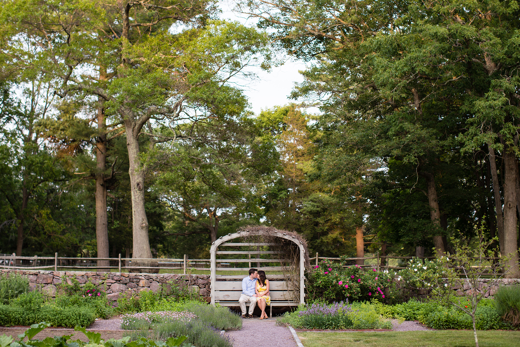 garden engagement photos at the bradley estate in canton ma